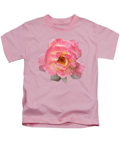 Vintage Rose Square Kids T-Shirt