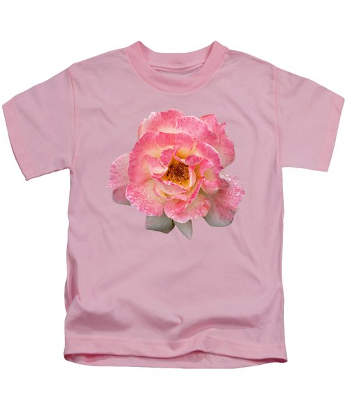 Vintage Rose Square Kids T-Shirt