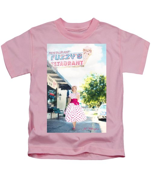 Vintage Val Ice Cream Parlor Kids T-Shirt