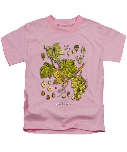 Vitis Vinifera Kids T-Shirt by Justyna JBJart