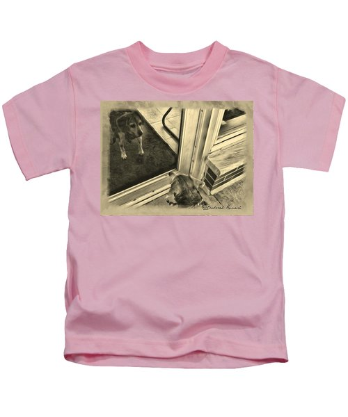 Waiting For Daddy Kids T-Shirt