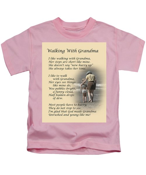 Walking With Grandma Kids T-Shirt