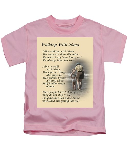 Walking With Nana Kids T-Shirt