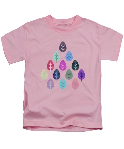 Watercolor Forest Pattern  Kids T-Shirt