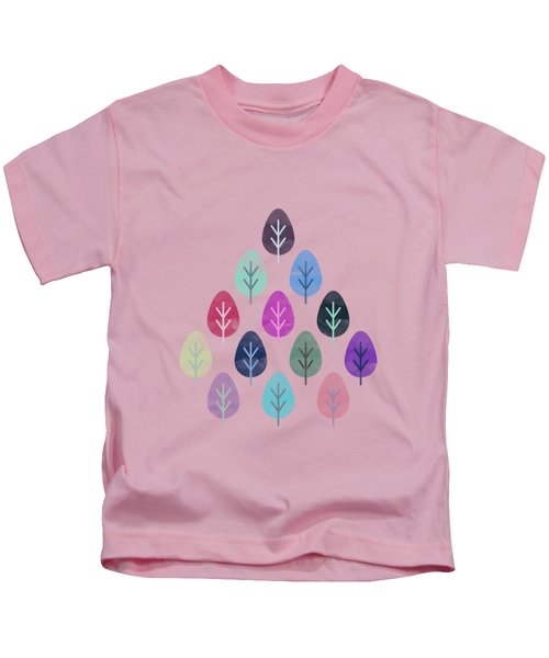 Watercolor Forest Pattern II Kids T-Shirt