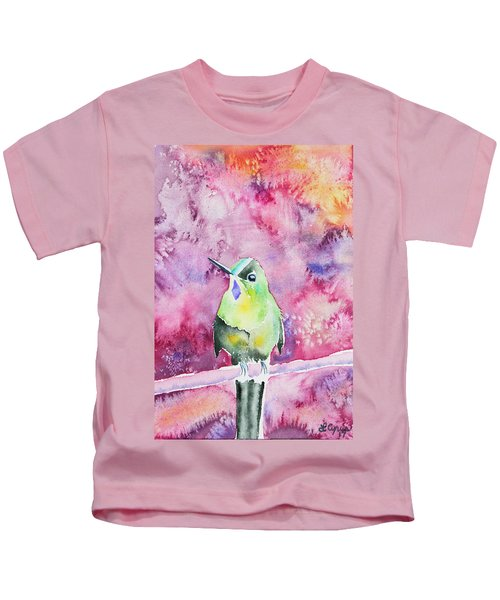 Watercolor - Violet-tailed Sylph Kids T-Shirt