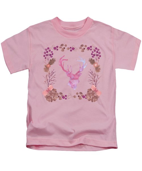 Watercolors In The Wilderness Kids T-Shirt