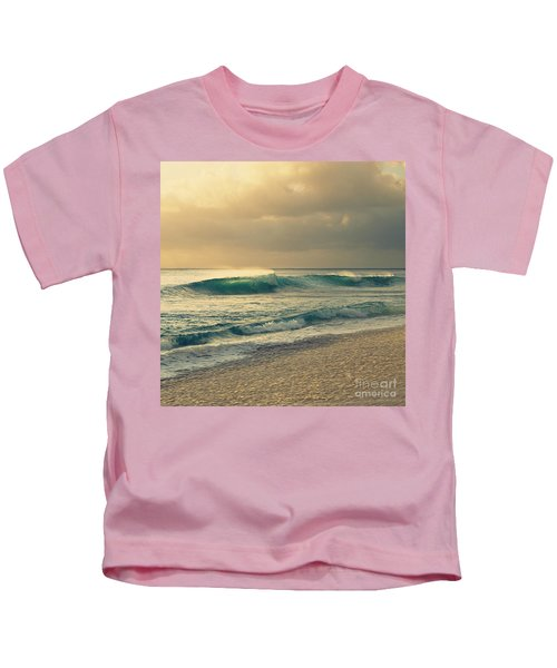 Waves Of Light - Hipster Photo Square Kids T-Shirt