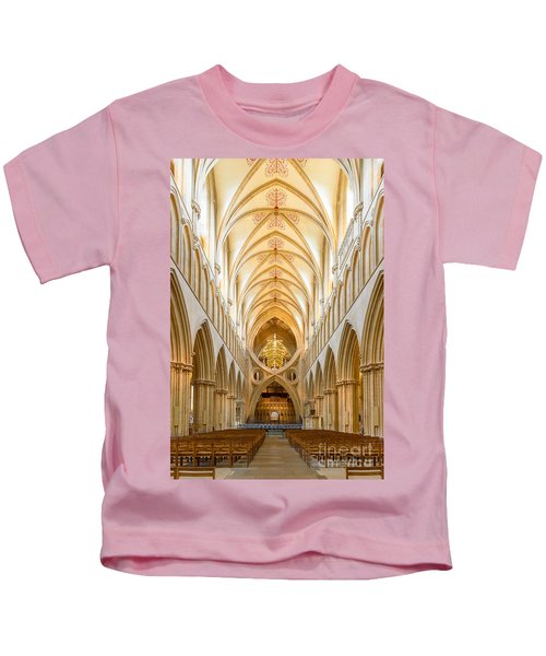 Wells Cathedral Nave Kids T-Shirt