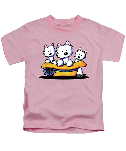 Westie Hat Trio Kids T-Shirt