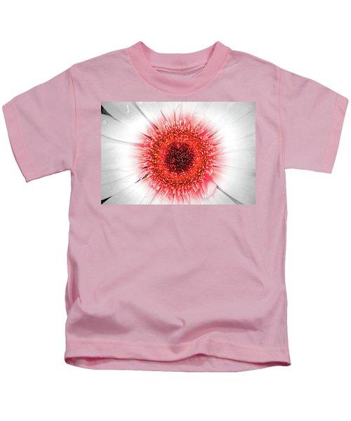 Wet Gerbera With Splash Of Color Kids T-Shirt