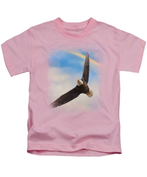 When My Wings Touch The Rainbow Kids T-Shirt by Jai Johnson
