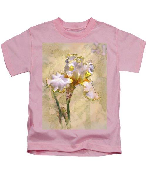 White And Yellow Iris Kids T-Shirt