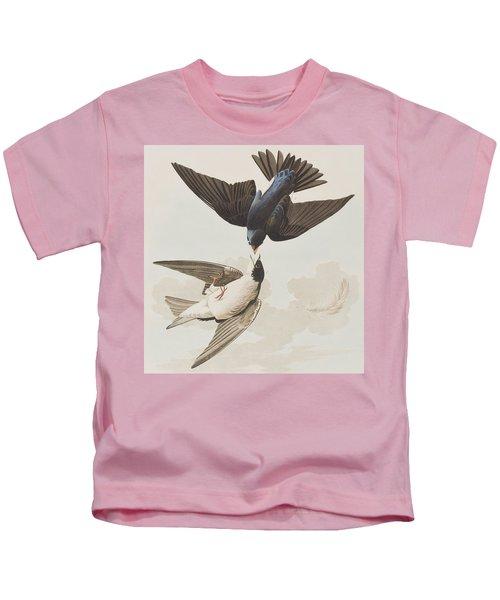 White-bellied Swallow Kids T-Shirt by John James Audubon