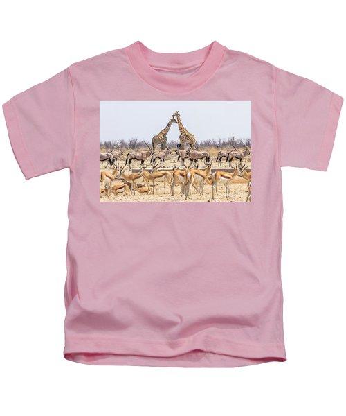 Wild Animals Pyramid Kids T-Shirt