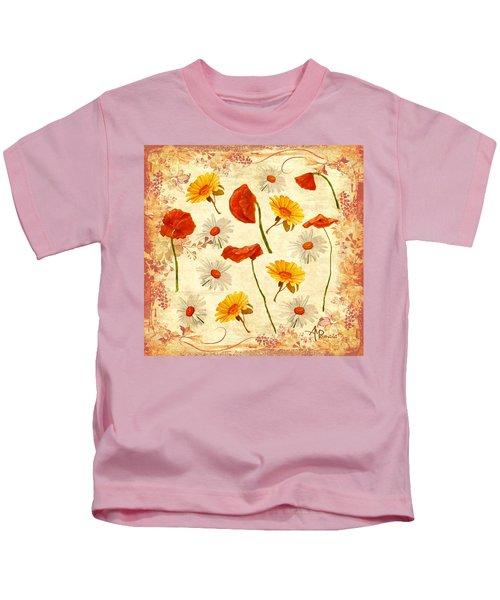 Wild Flowers Vintage Kids T-Shirt