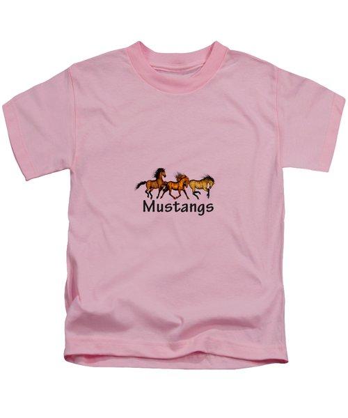 Wild Mustangs On The Run Kids T-Shirt