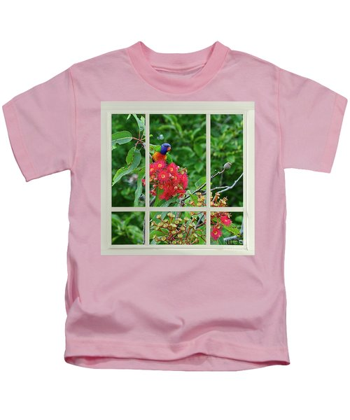 Window Of Nature By Kaye Menner Kids T-Shirt