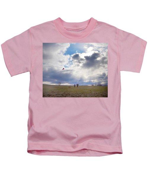 Windy Kite Day Kids T-Shirt