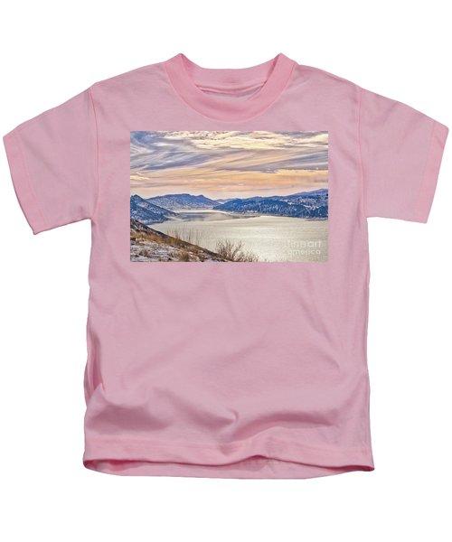 Winter At Horsetooth Reservior Kids T-Shirt