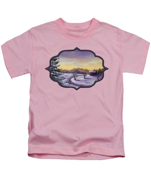 Winter In Vermont Kids T-Shirt