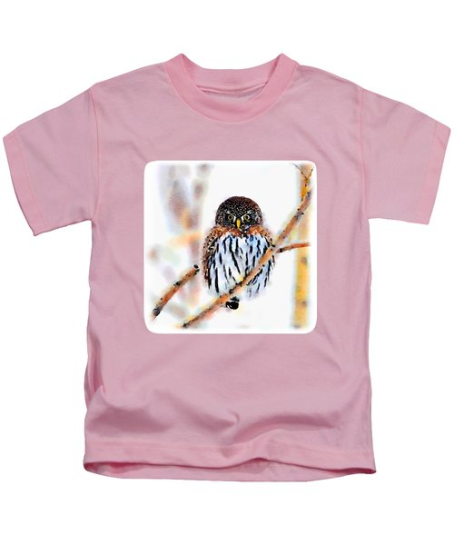 Winter Owl Watercolor Kids T-Shirt