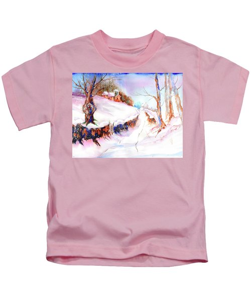 Winter Snow Kids T-Shirt