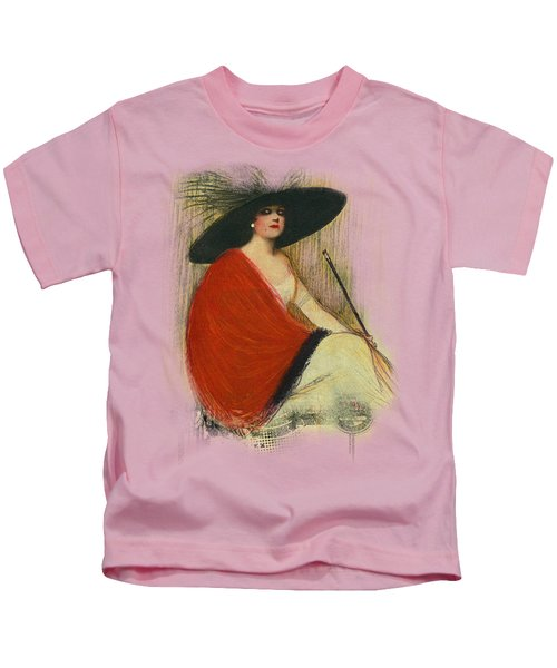 Woman Wearing Hat Kids T-Shirt