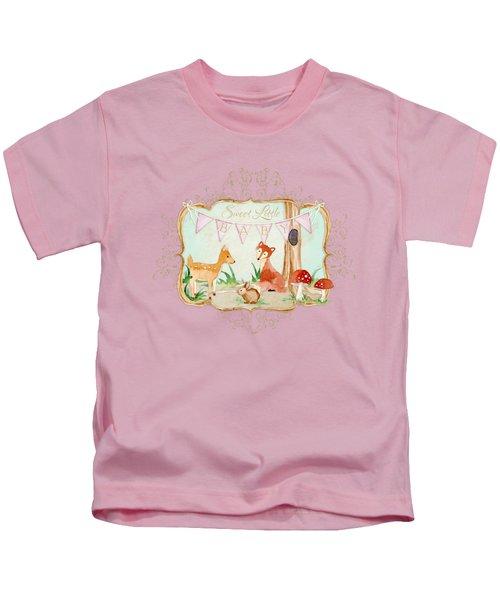 Woodland Fairytale - Banner Sweet Little Baby Kids T-Shirt