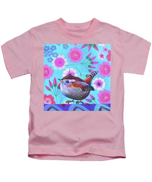 Wren Kids T-Shirt by Jane Tattersfield