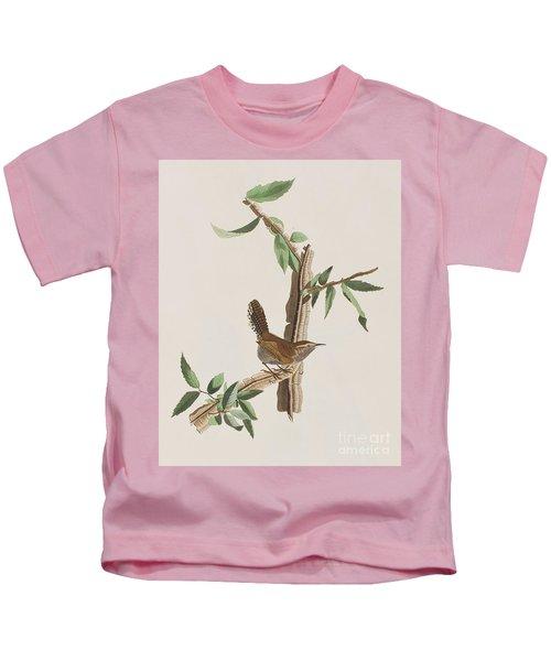 Wren Kids T-Shirt by John James Audubon