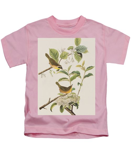 Yellow-breasted Warbler Kids T-Shirt by John James Audubon
