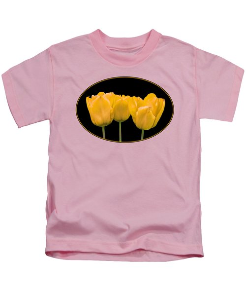 Yellow Tulip Triple Kids T-Shirt