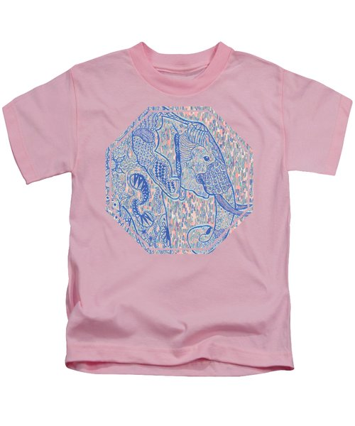 Zentangle Elephant-oil Kids T-Shirt