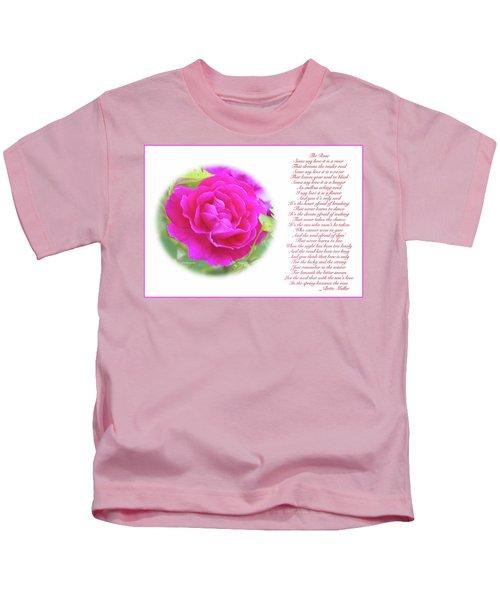 Pink Rose And Song Lyrics Kids T-Shirt