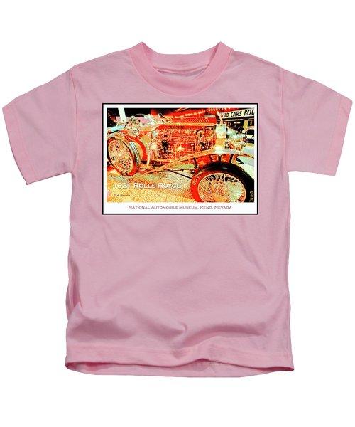 1921 Rolls Royce Classic Automobile Kids T-Shirt