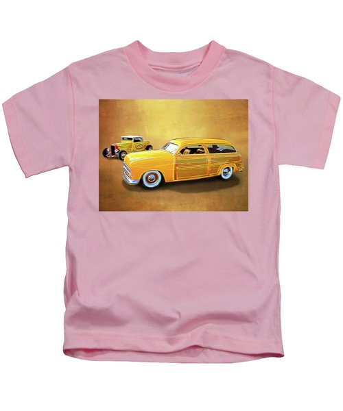 1949 Woody And 1932 Roadster Kids T-Shirt