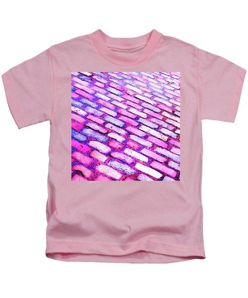 Diagonal Street Cobbles Kids T-Shirt