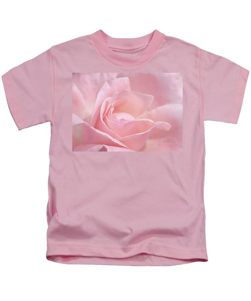 A Delicate Pink Rose Kids T-Shirt