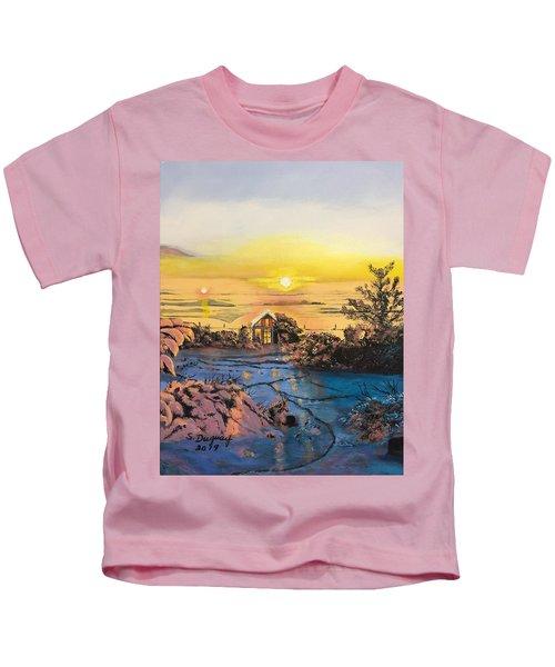 A Perfect Prairie Morning  Kids T-Shirt