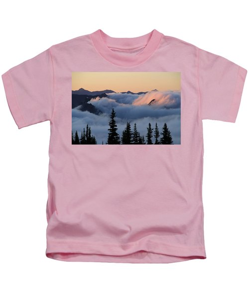 Above The Clouds Sunrise Kids T-Shirt