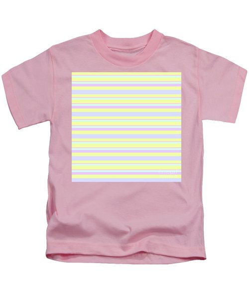 Abstract Horizontal Fresh Lines Background - Dde596 Kids T-Shirt
