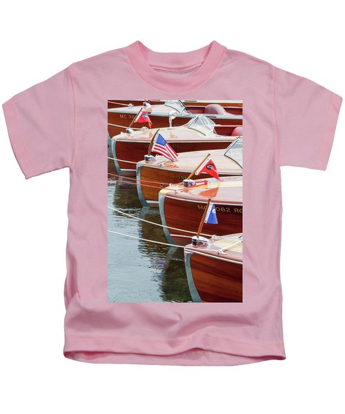 Antique Wooden Boats In A Row Portrait 1301 Kids T-Shirt