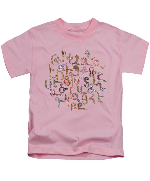 Armenian Birds Alphabet Kids T-Shirt