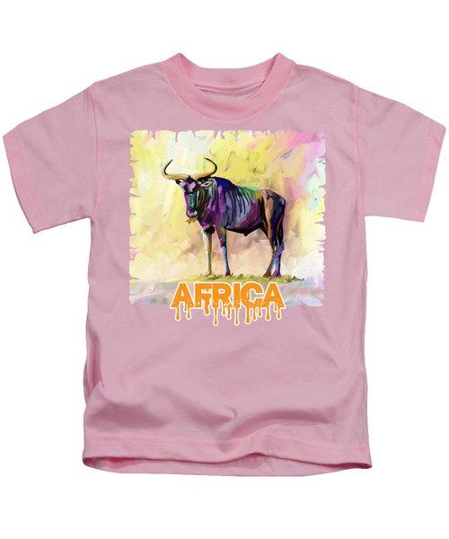 Colorful Gnu Kids T-Shirt