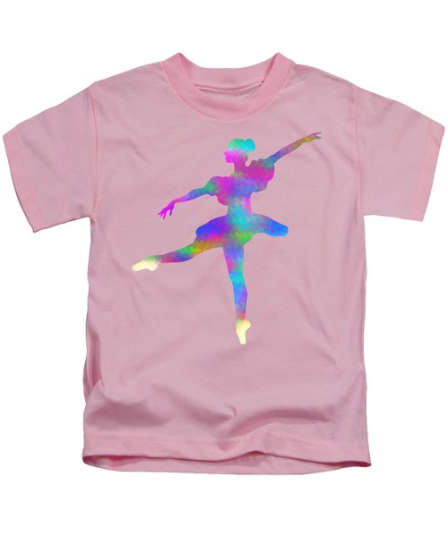 Ballerina Watercolor Kids T-Shirt