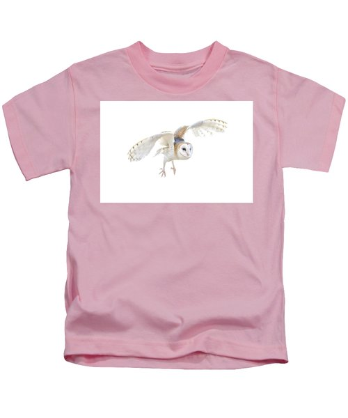 Barn Owl In Flight Kids T-Shirt