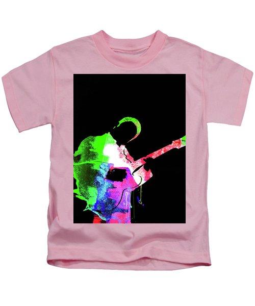 Bb King Watercolor II Kids T-Shirt