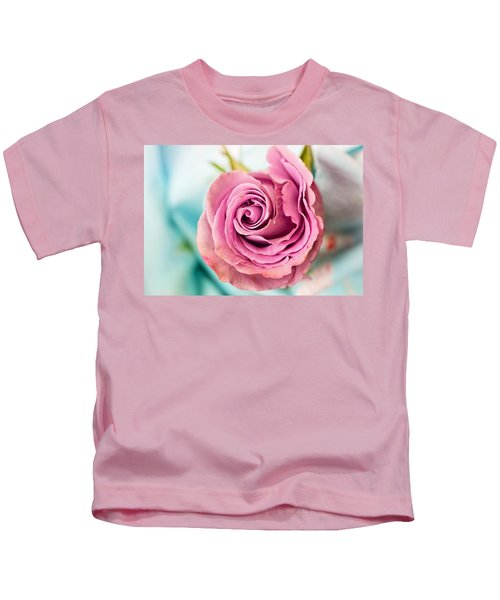 Beautiful Vintage Rose Kids T-Shirt