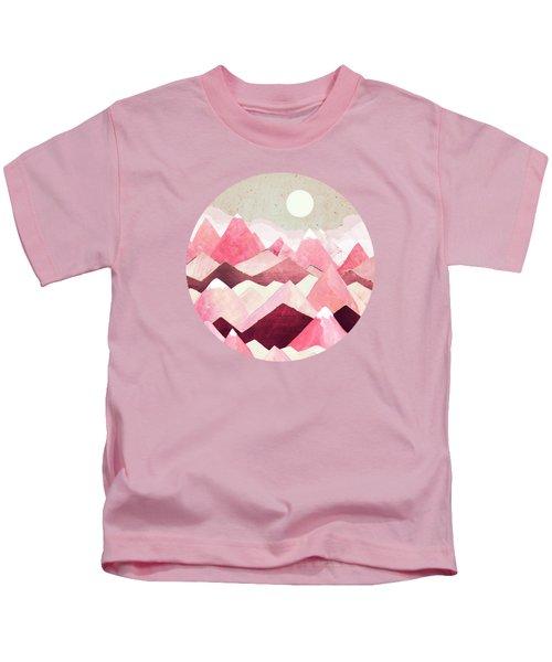 Blush Berry Peaks Kids T-Shirt